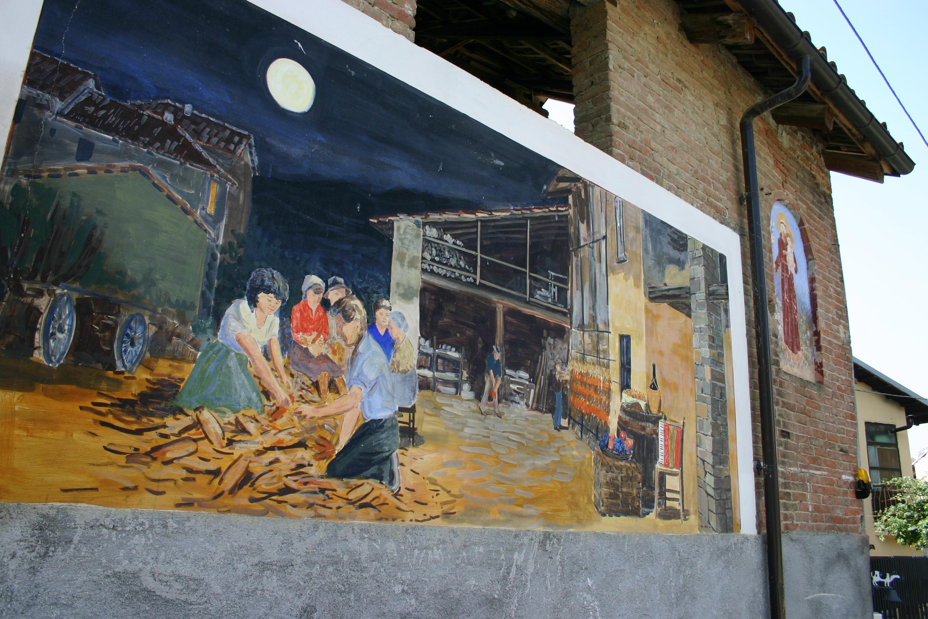 murales a Vergne, tra Barolo e Narzole
