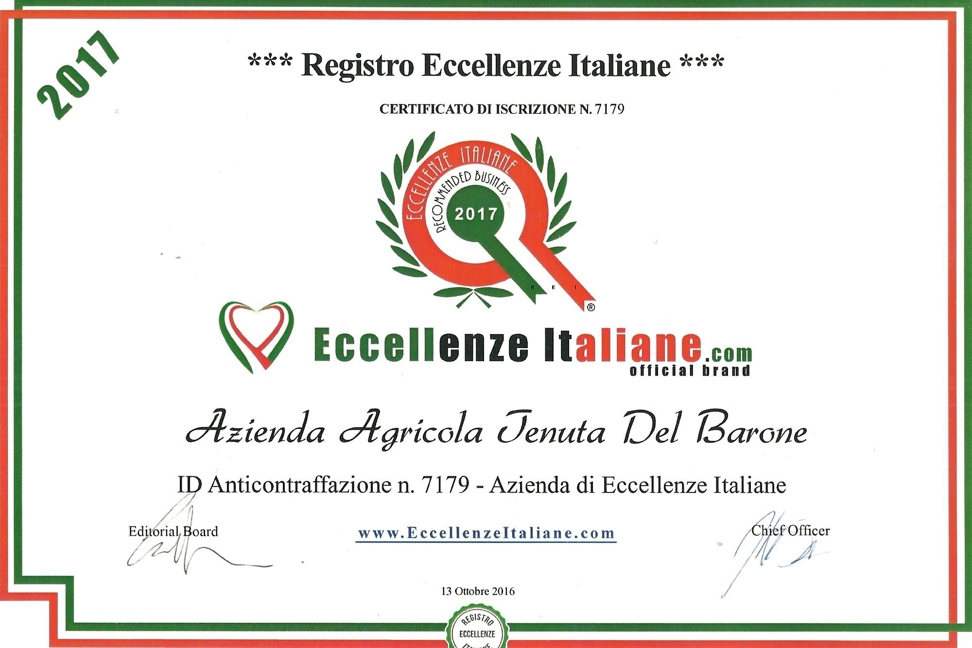 tenuta del barone eccellenza italiana vino